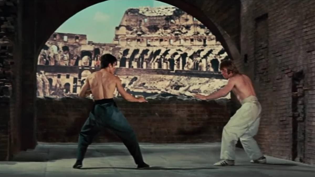 bruce lee, chuck norris, coliseo de Roma, artes marciales